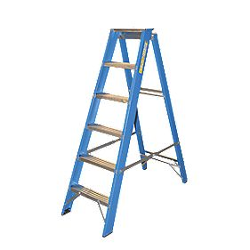 Lyte SFGSL6 Swingback Builders Ladder 6-Tread 1.47m