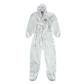 "Biztex Microcool Type 5/6 Disposable Coverall White XL 42-46"" Chest 31"" L"