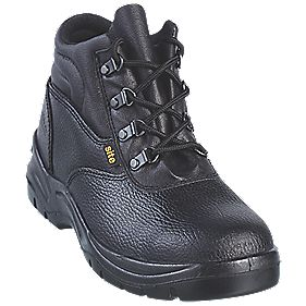 Site Slate Chukka Safety Boots Black Size 8