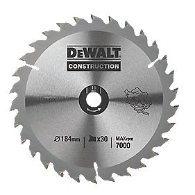 DeWalt DT1151-QZ Circular Saw Blade Portable 184 x 16mm 30T