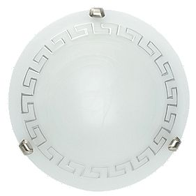 Delphic Bathroom Ceiling Light Alabaster Glass 60W