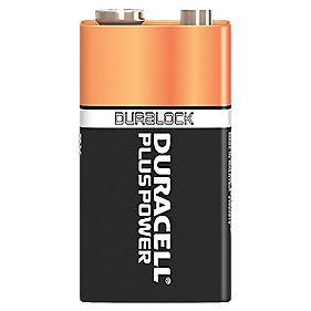 Duracell Alkaline Power Plus Batteries 9V Pack 4