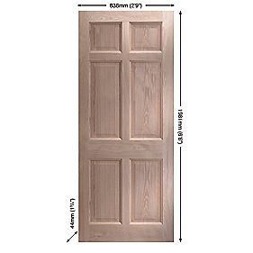 Jeld-Wen Eversley Oak Multi-Purpose Exterior Door Unfinished 838 x 1981mm