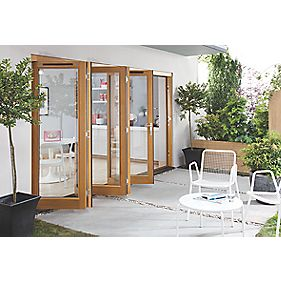 Jeld-Wen Canberra Solid Oak Slide & Fold Patio Door Set 3594 x 2094mm
