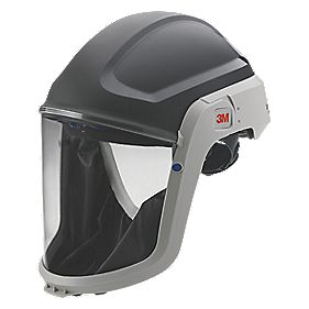 3M Helmet & Visor Black / Grey