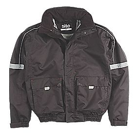 "Site Elm Pilot Jacket Black Medium 50-51"" Chest"