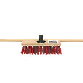 Bentley Stiff Broom with Wooden Handle 11""