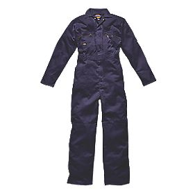 "Dickies Redhawk Zip Front Coverall Navy Large 44"" Chest 30"" L"