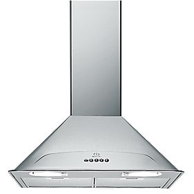 Indesit H563IX Stainless Steel Built-In Chimney Cooker Hood 600mm