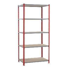 Just Shelving 1980 x 900 x 450mm 5 Shelves