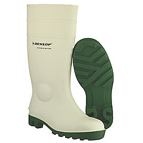 Dunlop. Protomastor FS1800/171BV Wellington Boots White Size 8