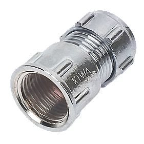 Conex Chrome Compression Female Connector 15mm x ½""