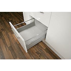Moovit Drawer Pan for 600mm Cabinet Silver Grey