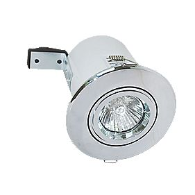 Robus Adjustable Round Fire Rated Downlight Polished Chrome 240V