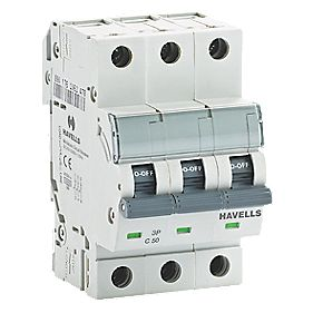 Havells 50A Triple-Pole Type C MCB