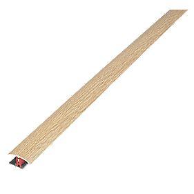 Stikatak New Clip Floor Threshold Multi-Height Light Oak Effect 37 x 900mm