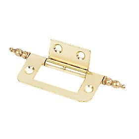 Flush Finial Hinge Electro Brass 50 x 23 x 1mm Pack of 20