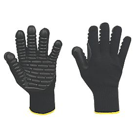 Anti-Vibration Gloves Black Large
