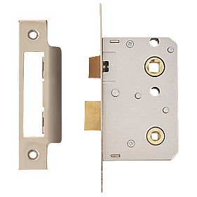 ERA Bathroom Lock Chrome Effect 26 x 64mm