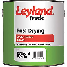 Leyland Trade Fast Drying Gloss Paint White 2.5Ltr