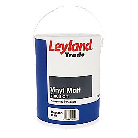 Leyland Trade Vinyl Matt Emulsion Paint Magnolia 5Ltr
