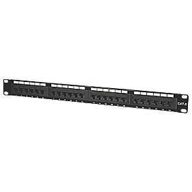 "Philex 1U 19"" UTP Cat 6 24-Port Patch Panel"