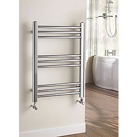 Kudox Timeless Designer Towel Radiator Chrome 700 x 500mm 168W 573Btu