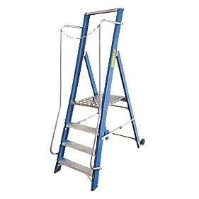 Lyte Widestep Fibreglass Platform Step Ladder 4-Tread 1.84m
