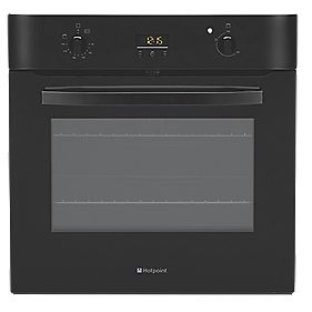 Hotpoint SH 33K Single Built-In Electric Fan Oven Black 600 x 600mm