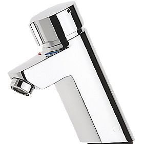 AQUAMIX S Self Closing Single Mxr Tap with Fixed Chrome Tails/Connect Pipes