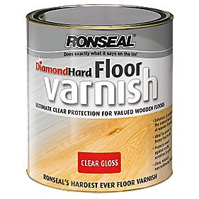 B and Q Diamond Hard Floor Varnish Clear Gloss 2.5Ltr