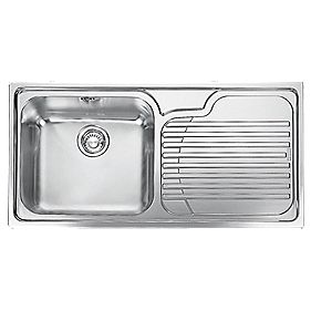 Screwfix Franke Sink : Franke Inset Kitchen Sink Stainless Steel 1-Bowl 1000 x 500mm ( 8045F ...