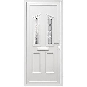 Somerton 2-Light uPVC Front Door LH 920 x 2085mm