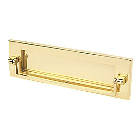 Carlisle Brass Victorian Letter Plate Polished Brass 257 x 81mm