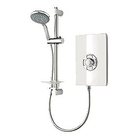 Triton White Gloss Manual Electric Shower 9.5kW