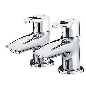 Bristan Capri Bath Pillar Bathroom Taps Pair