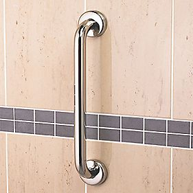 Grab Bar Stainless Steel Chrome 380 x 81 x 88mm