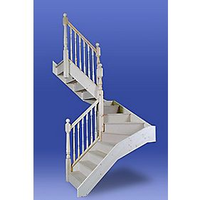 Stairways Chamfered Middle Winder Staircase RH White