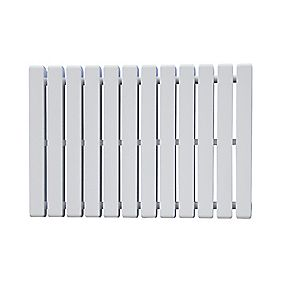 Erupto Square Horizontal Designer Radiator White 600 x 885mm 3495BTU
