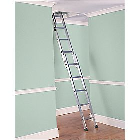 Lyte SFDLEL2 Deluxe Loft Ladder Aluminium 2-Section 10-Tread