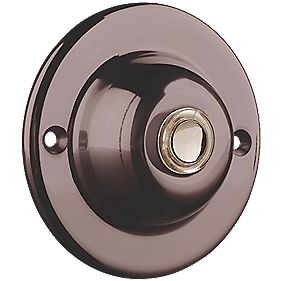 Byron Wired Circular Illuminated Bell Push Brushed Nickel 95 x 35mm