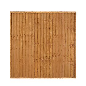 Forest Larchlap Heavy Duty Closeboard Fence Panels 1.8 x 1.8m Pack of 4