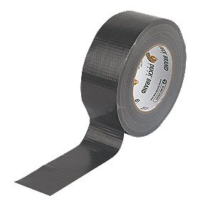 Duck Original Cloth Tape 50 Mesh Black 50mm x 50m