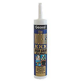 Geocel The Works XXX Solvent-Free Grab Adhesive White 290ml