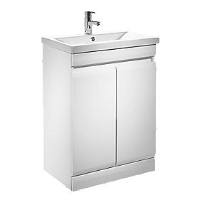 Tavistock Groove Bathroom Basin Unit White 590mm