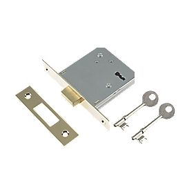 "Century 3-Lever Mortice Deadlock Brass Plated 3"" / 76mm"