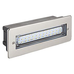 Brushed Stainless Steel & White LED Brick Light 0.07W