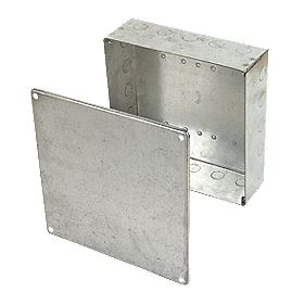 Appleby Adaptable Box Knockout Box Galvanised 225 x 225 x 75mm