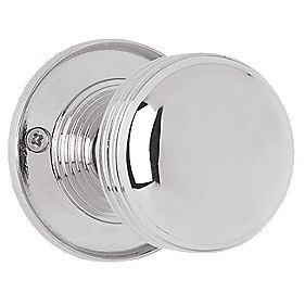 Jedo Ringed Door Knob Polished Chrome 65mm Pack of 2