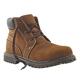 Site Boulder Safety Boots Tan Size 8